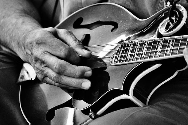 Mandolin Music black and white - foto de acervo