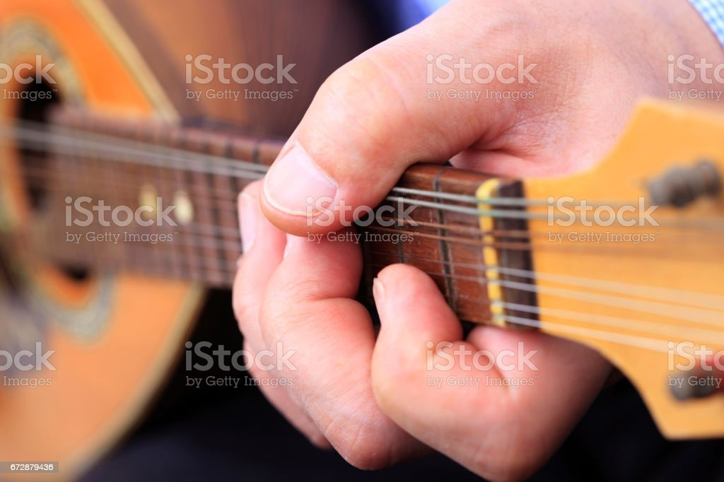 Mandolin music stock photo