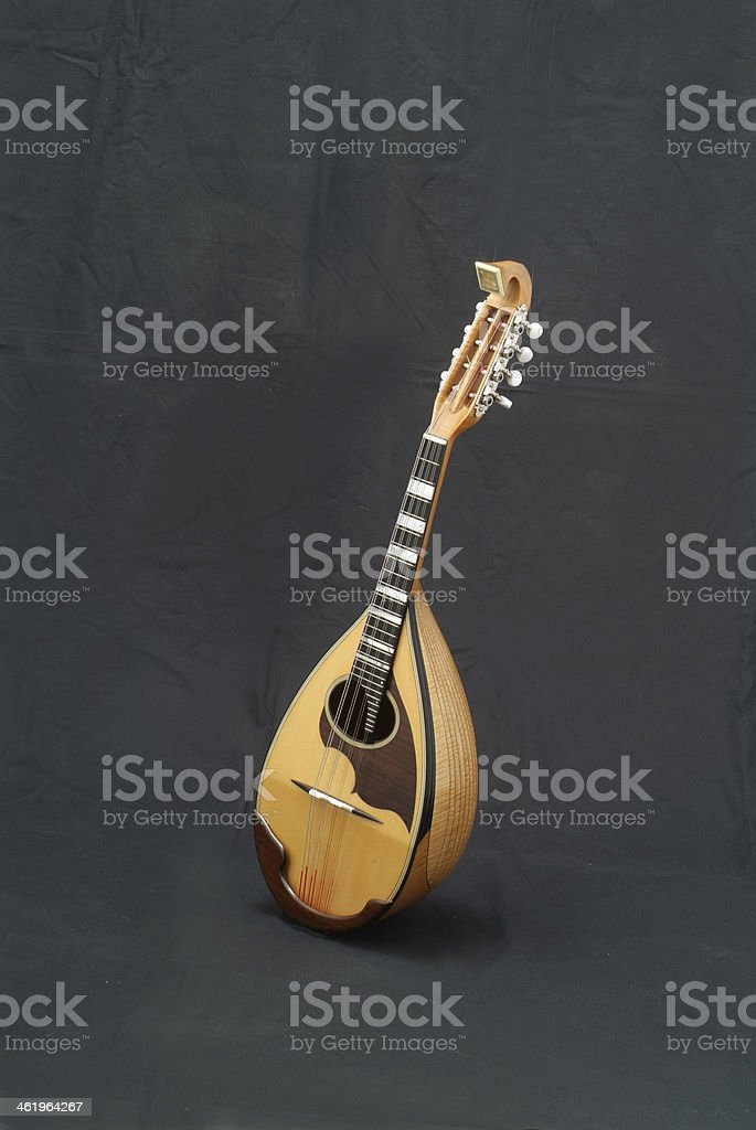 Mandolin with Black back stock photo