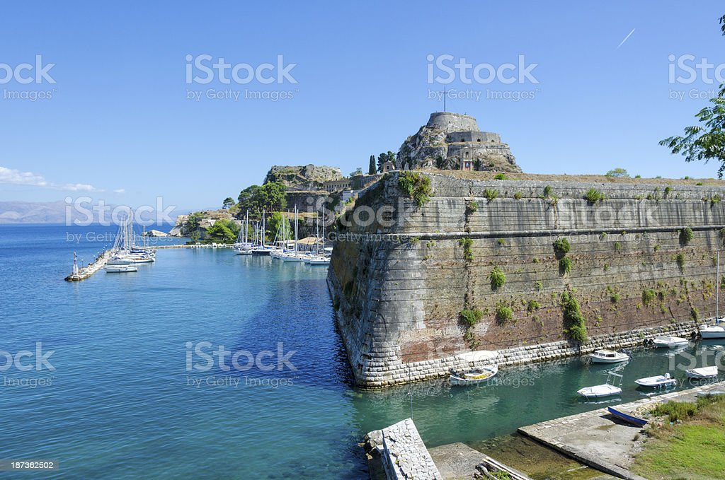 Mandraki - Corfu stock photo