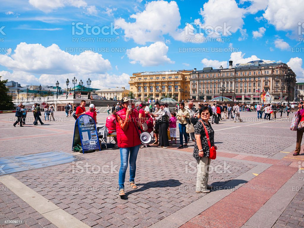 Manege Square, Moscow, Russia royalty-free stock photo