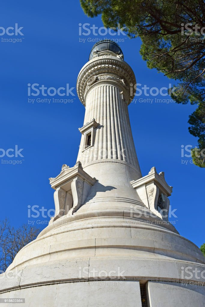 Manfredi Lighthouse at the Gianicolo ( Janiculum Hill ) in Rome, Italy stock photo