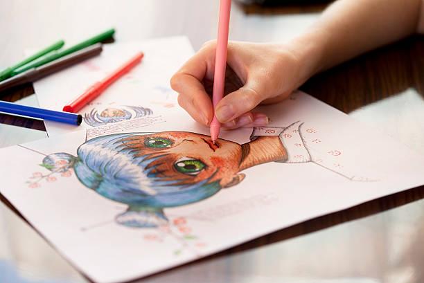manga painter - manga style stock photos and pictures