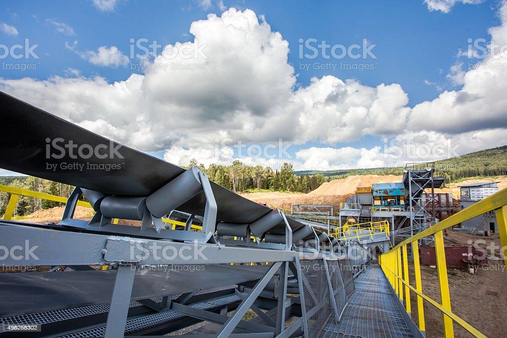 Manganese mine stock photo