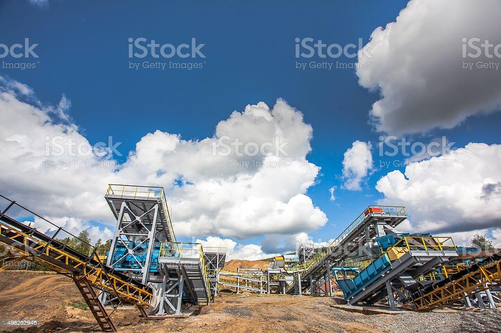 Manganese ore stock photo