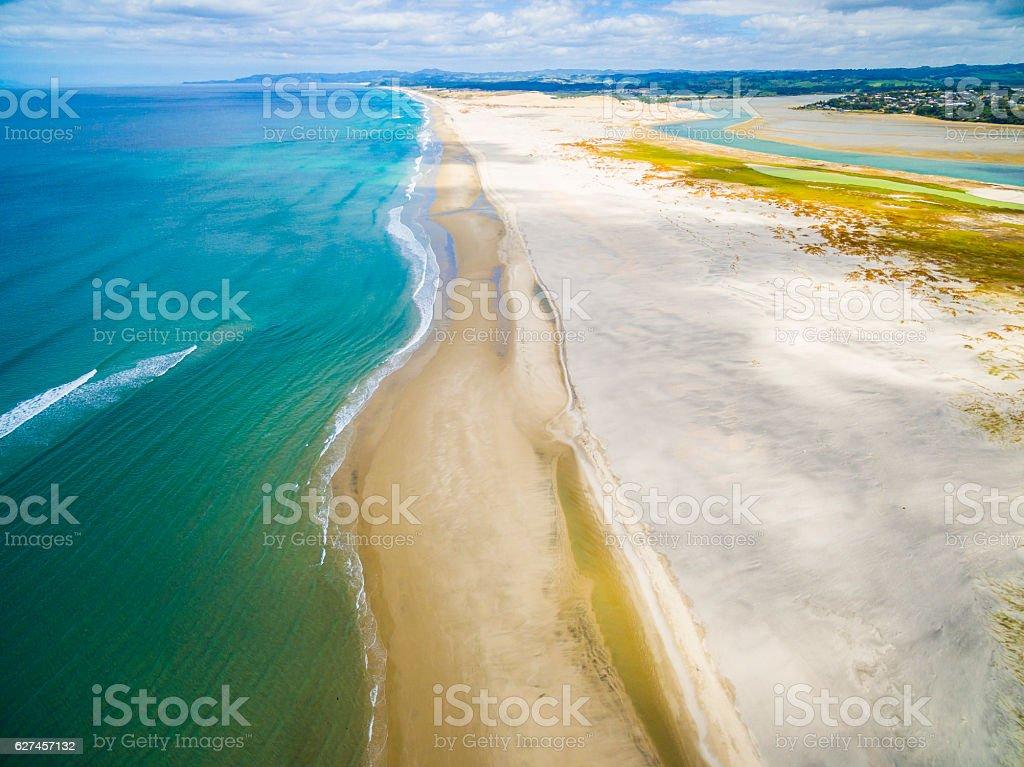 Mangawhai Aerial View stock photo