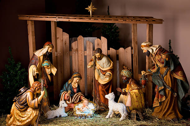 manger scene - nativity scene stock pictures, royalty-free photos & images
