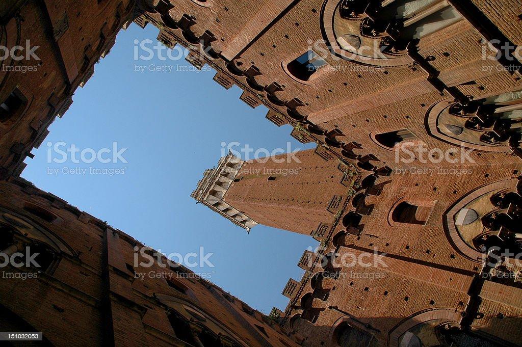 Mangia Tower stock photo