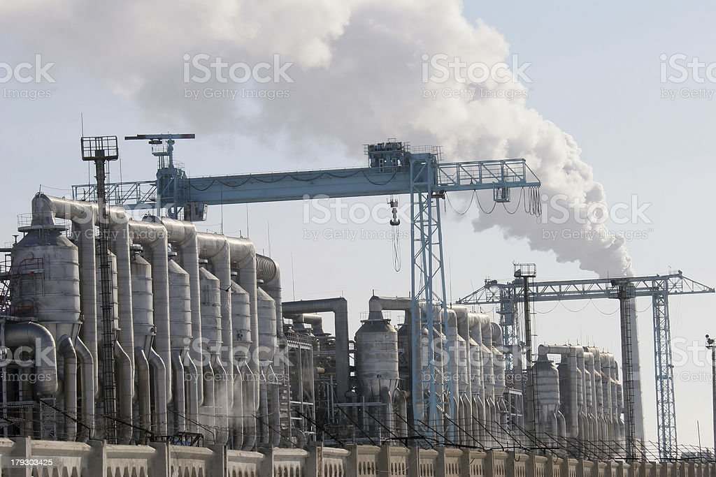 Mangistau atomic energy complex stock photo