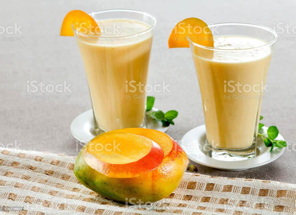 Mango and Banana Smoothie royalty-free stock photo