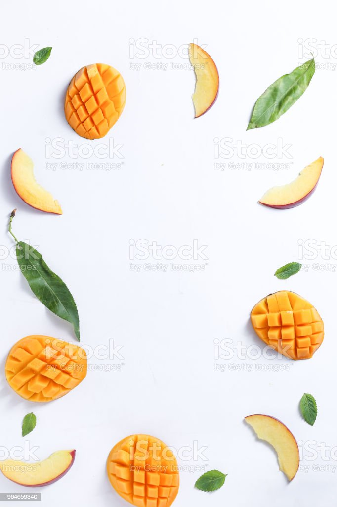 mango and peach background royalty-free stock photo