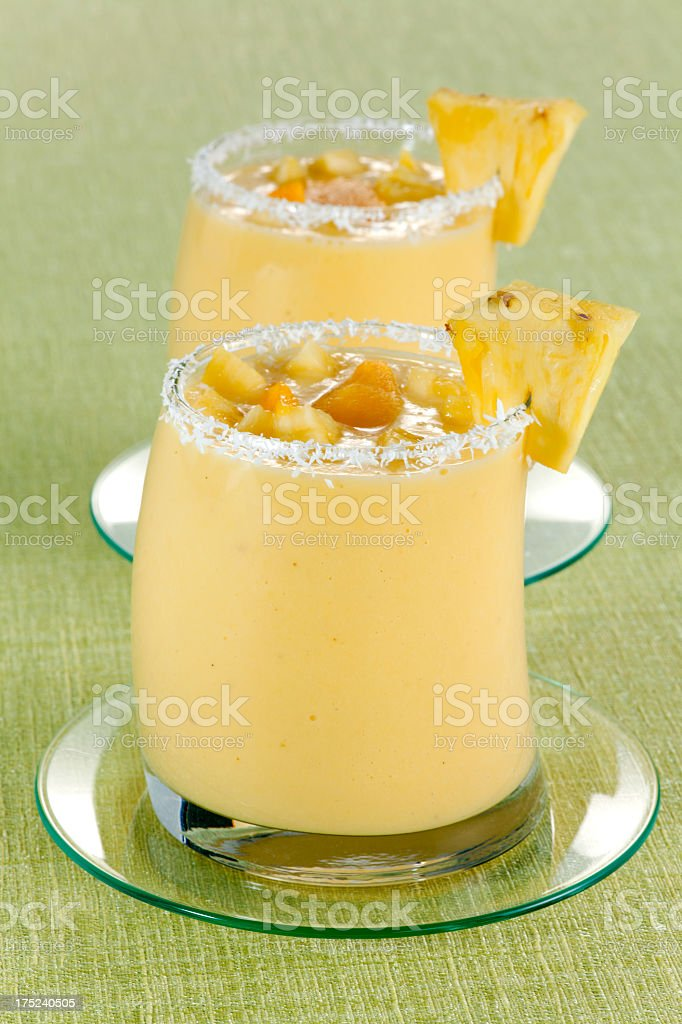 Mango and Pineapple Smoothie royalty-free stock photo