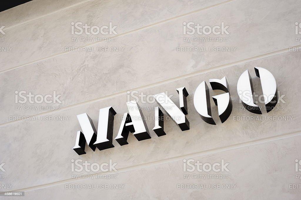 Mango Boutique Sign stock photo