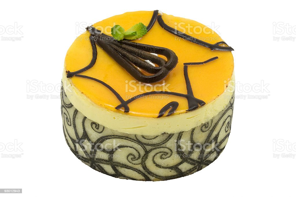 Mango chocolate mousse cake royalty-free stock photo
