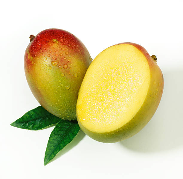 Mango duo with Leafs stock photo