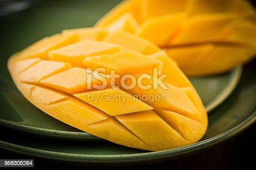 Mango fruit and mango slices