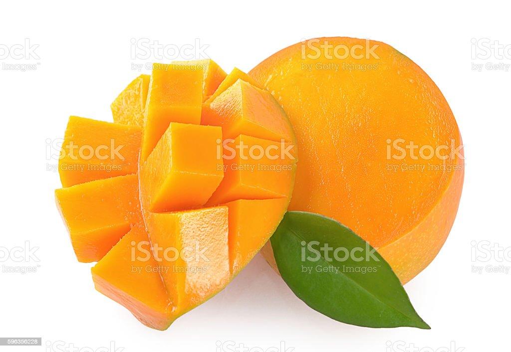 Mango fruit isolated on white background royalty-free stock photo