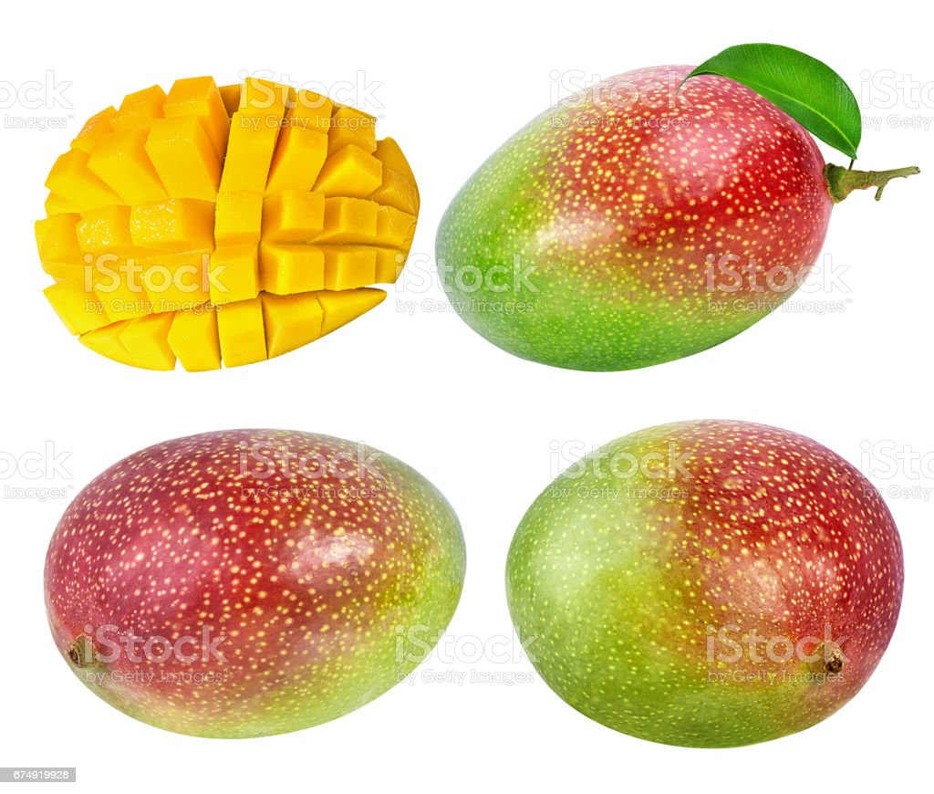 mango fruit isolated on white royalty-free stock photo