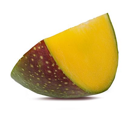 Foto de Fruta Da Manga Isolada No Branco e mais fotos de stock de Alimentação Saudável