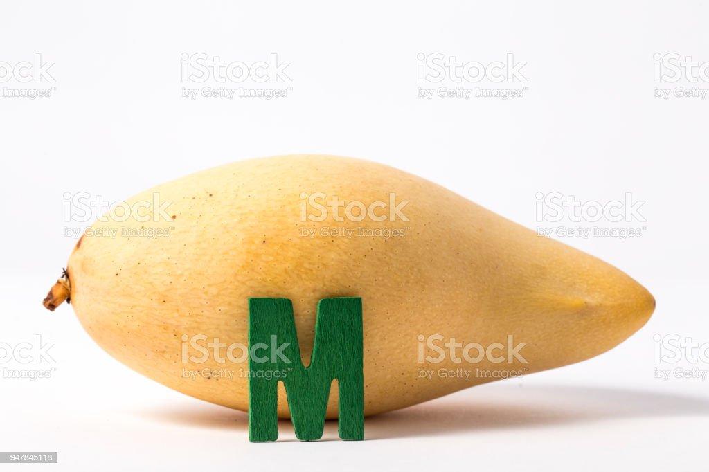 mango fruit isolated stock photo