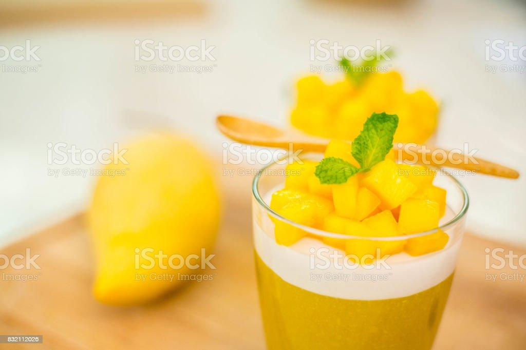 Mango Jelly dessert frui stock photo