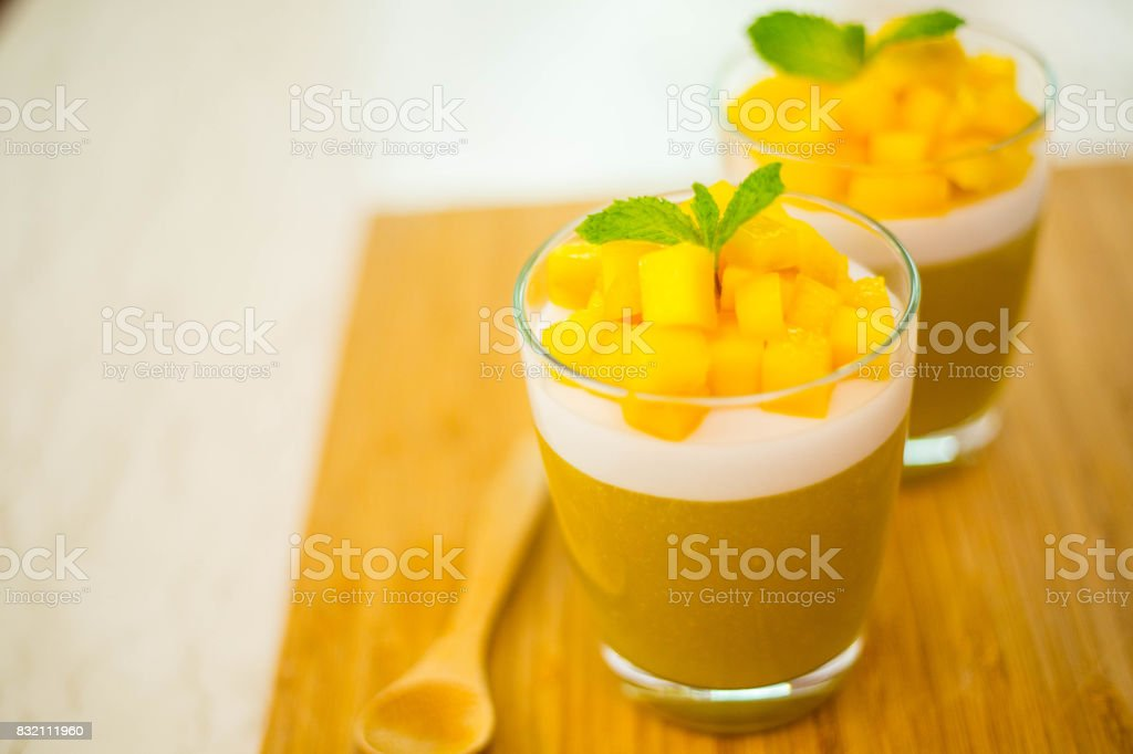 Mango Jelly dessert fruit stock photo