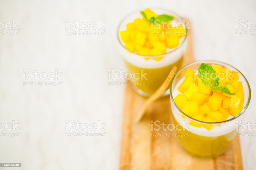 Mango Jelly dessert fruit. stock photo