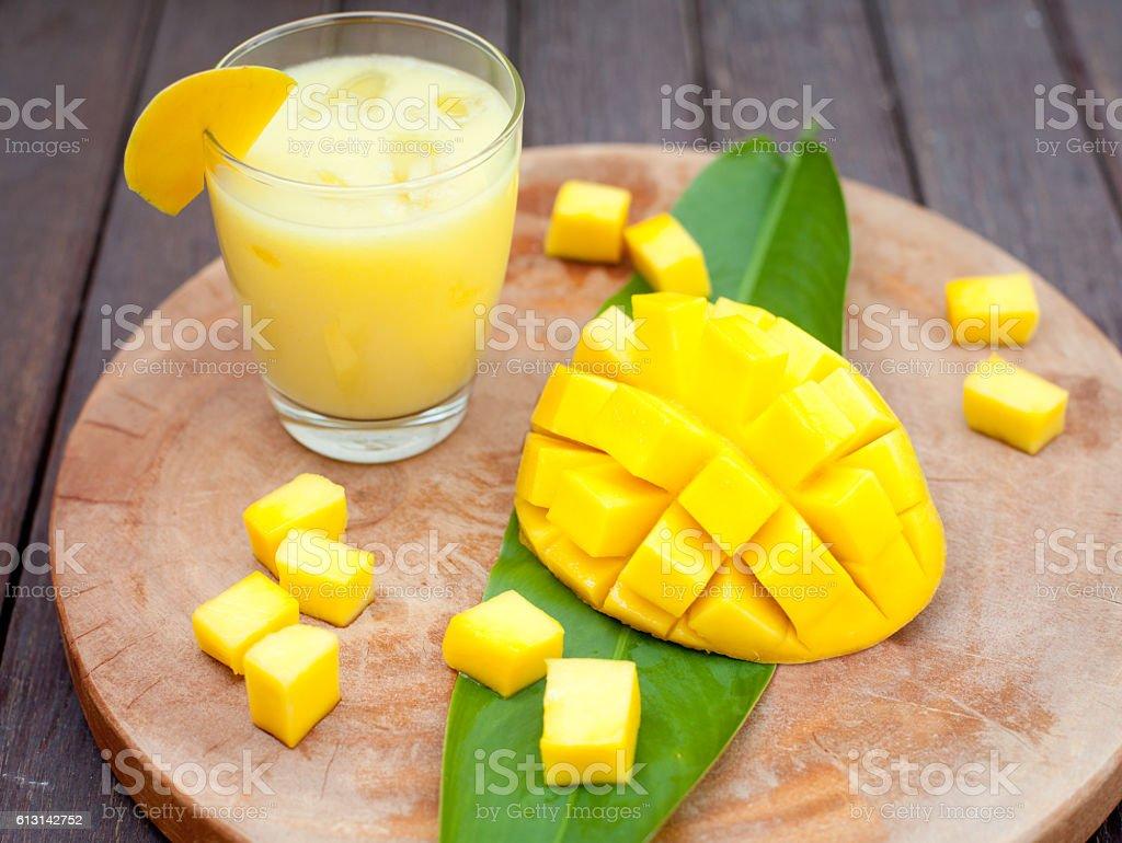 Mango juice, smoothie ,mango fruit stock photo