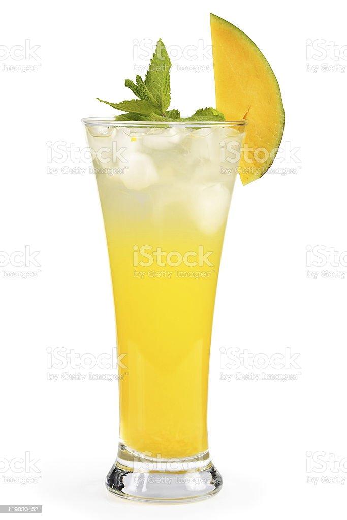 Mango mint cocktail. stock photo