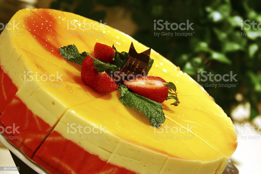 Mango Mousse Cake royalty-free stock photo