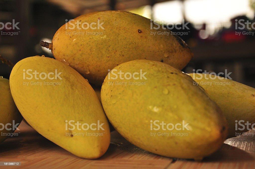 mango, native tropical fruit at open Thailand market royalty-free stock photo