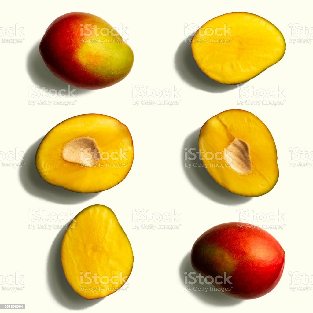 Mango Pattern on a White Background - Royalty-free Abstract Stock Photo