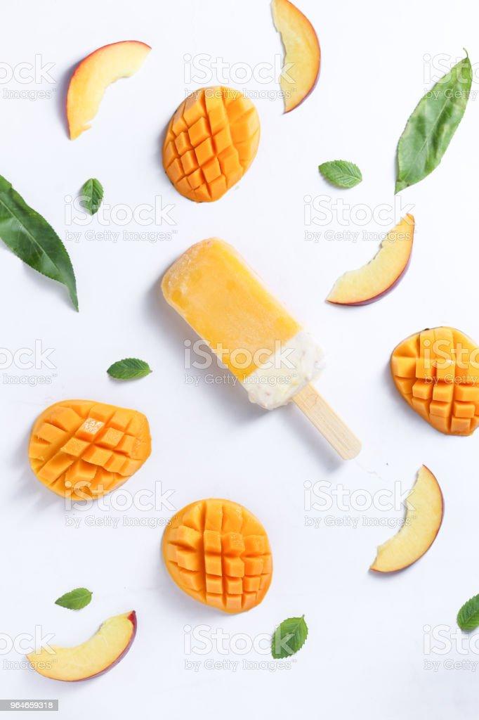 mango popsicle royalty-free stock photo