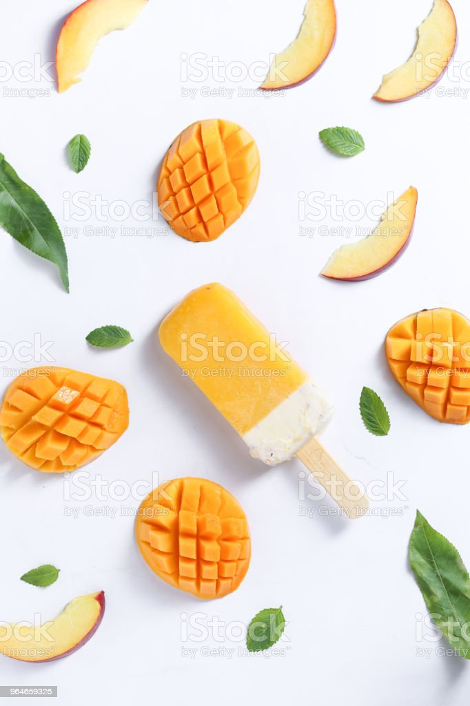 mango popsicle royalty-free stock photo