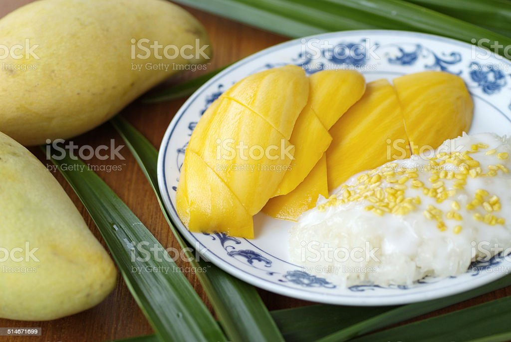 Mango sticky rice 3 stock photo