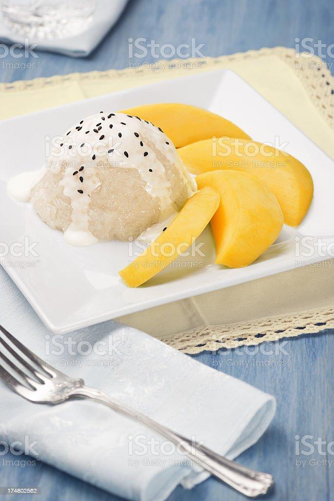 Mango Sticky Rice (Pulut Mangga) stock photo
