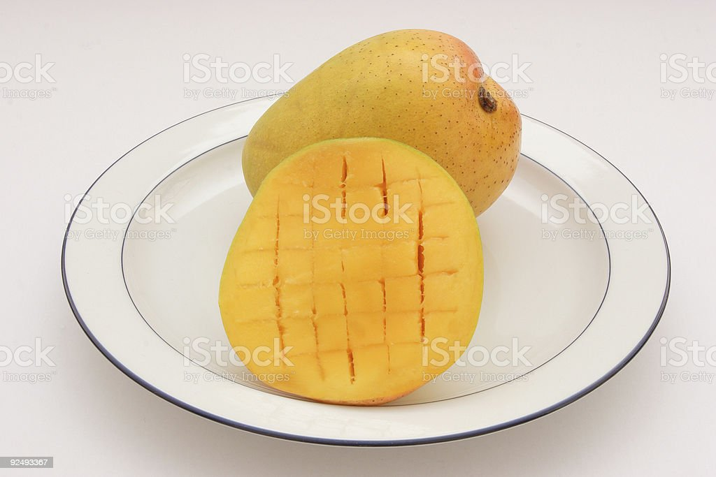Mangoes On A Plate royalty-free stock photo