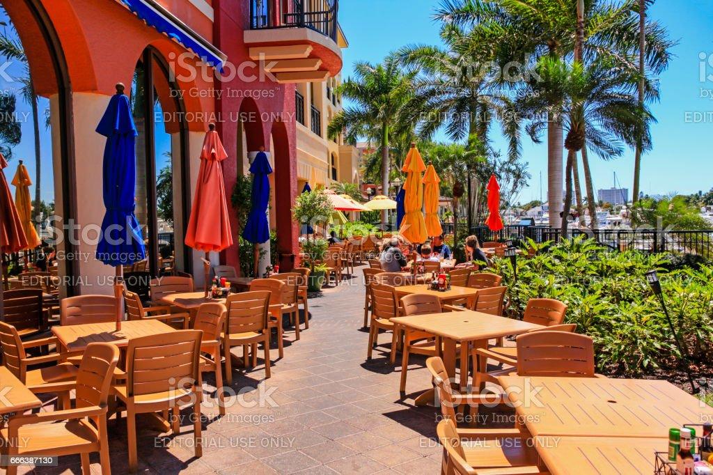 Mangos Dockside Bistro Restaurant On Marco Island Fl Stock Photo ...
