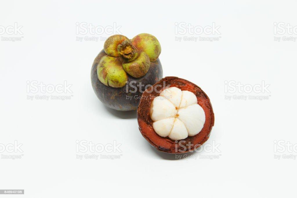 Mangosteen stock photo