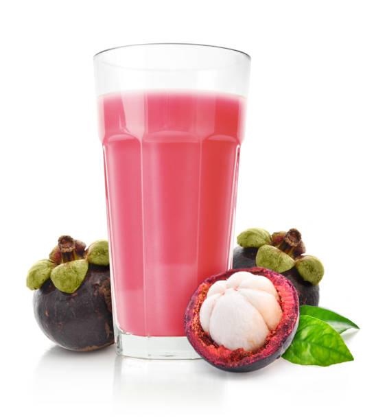 Mangostan-Frucht-Smoothie in Glas – Foto