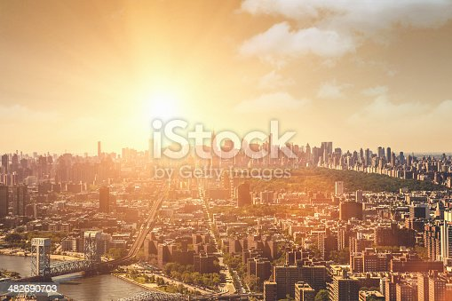 istock Manhattan aerial view from Harlem 482690703