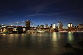 Manhattan bridge in New York City.
