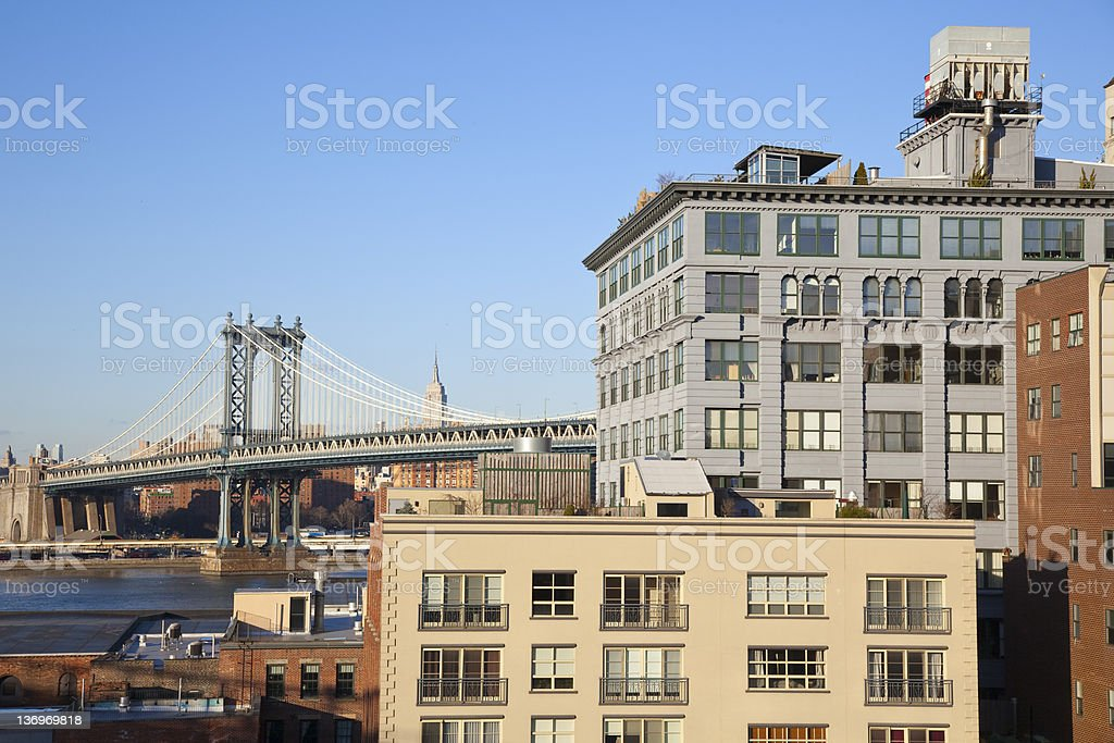 Manhattan and Dumbo view royalty-free stock photo
