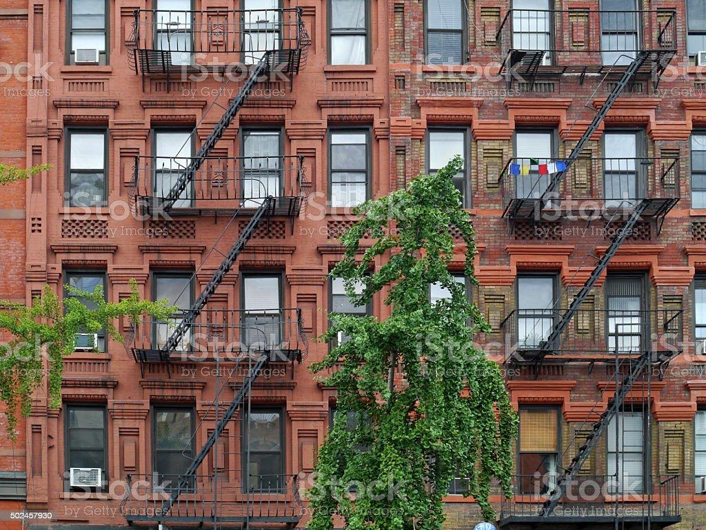 Manhattan apartment building stock photo