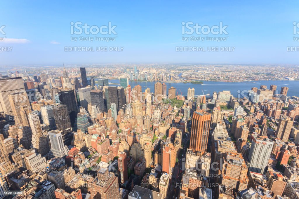 Manhattan as seen from the Empire State Building stock photo