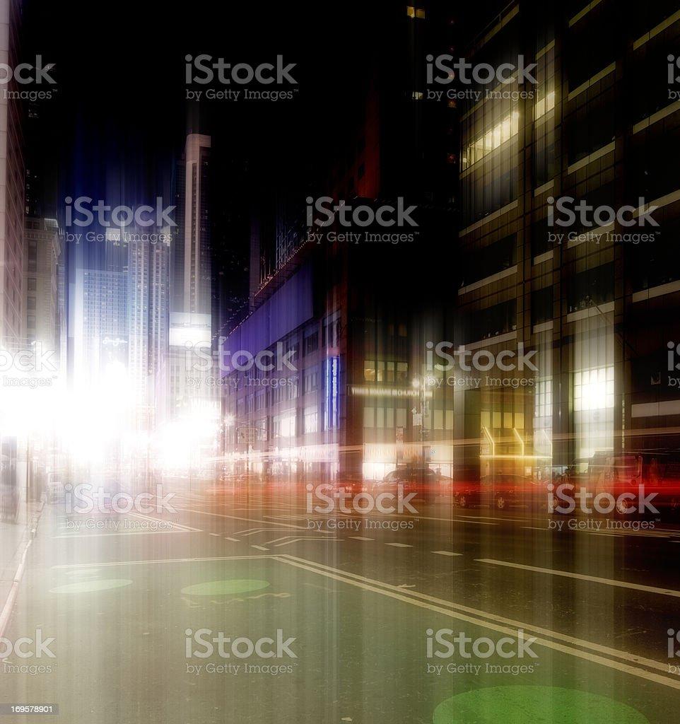 Manhattan bei Nacht Lizenzfreies stock-foto