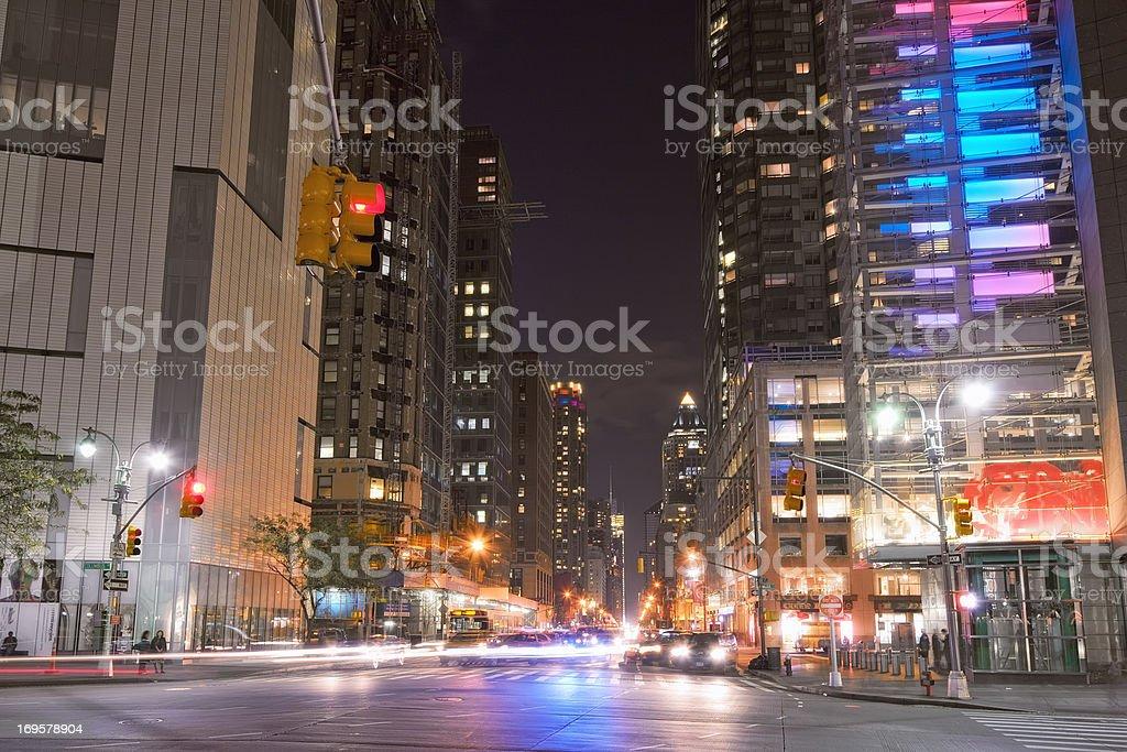 Manhattan at night  stock photo