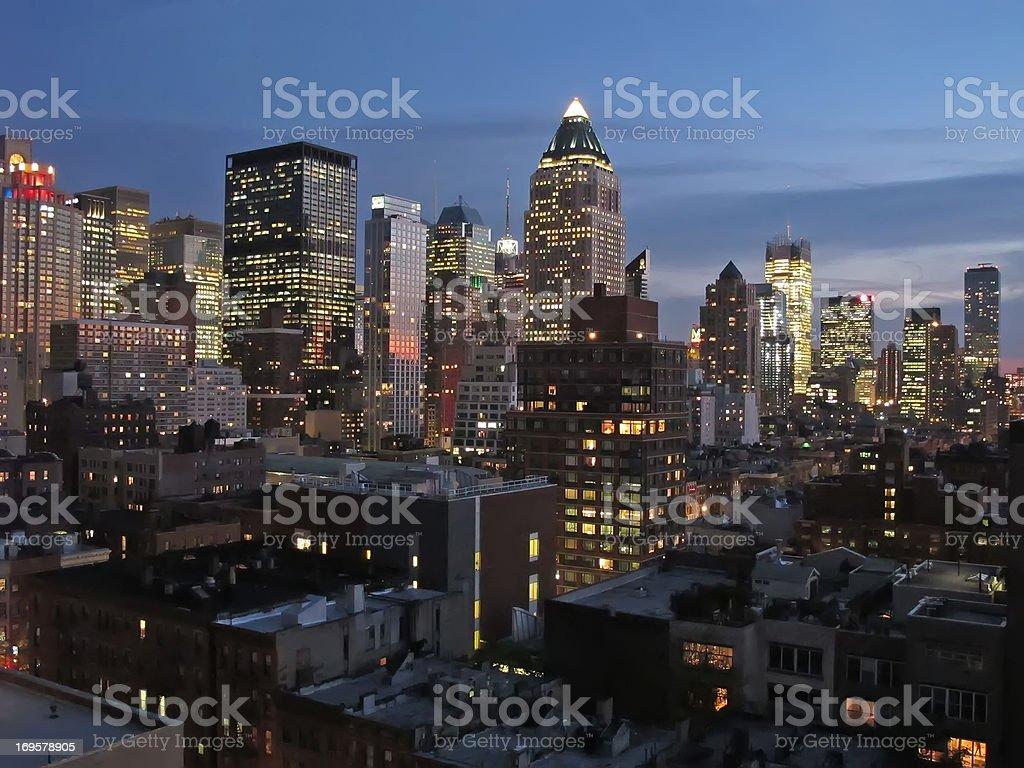 Manhattan bei Nacht – Foto