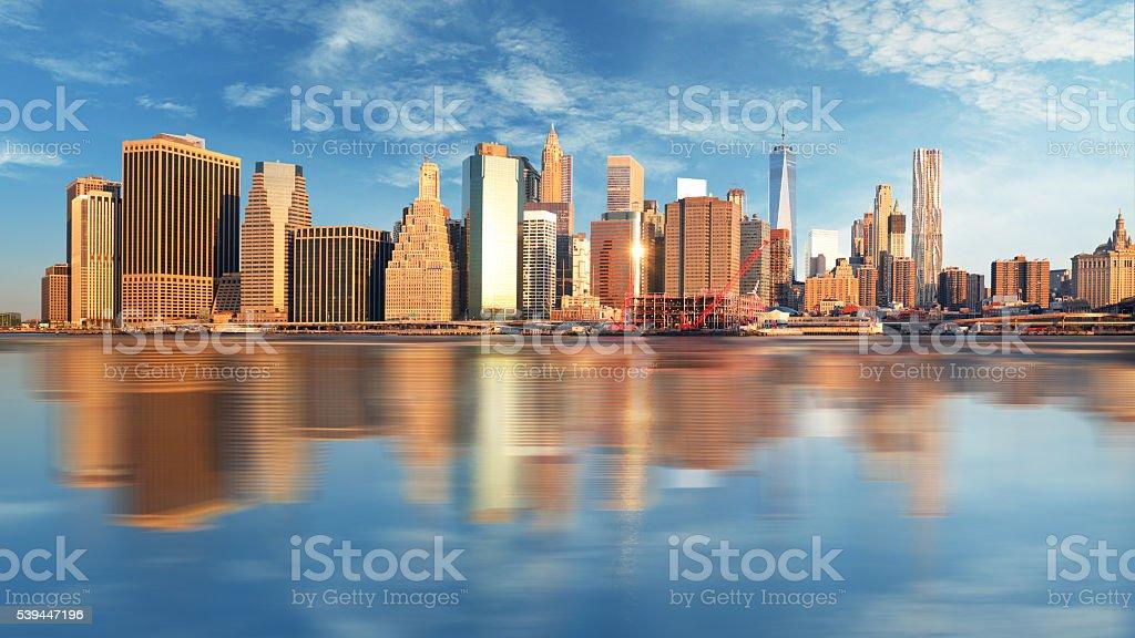 Manhattan at sunrise, New York stock photo