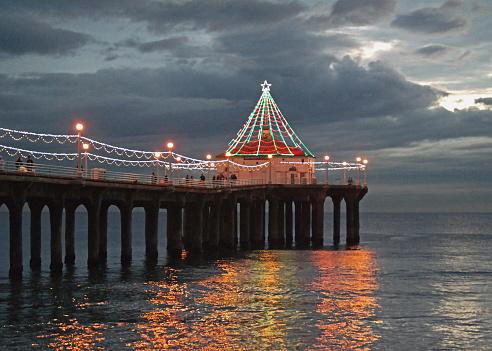 Manhattan Beach Pier at Christmas
